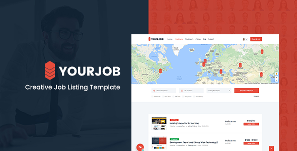 YourJob | Job Listing, Job Portal Directory Responsive Site Template - Business Corporate