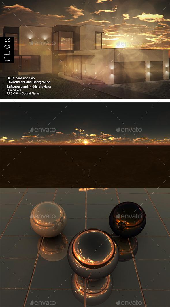 Sunset Desert 75 - 3DOcean Item for Sale