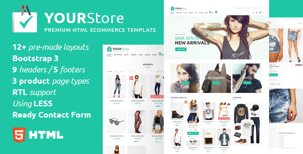YourStore – HTML eCommerce template