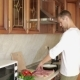 Man Beats Meat By Kitchen Hammer, Funny Guy Dancing And Preparing Food - VideoHive Item for Sale