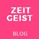 Zeitgeist - Personal Blog PSD Template