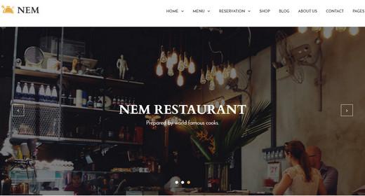 Best WordPress Themes Restaurant