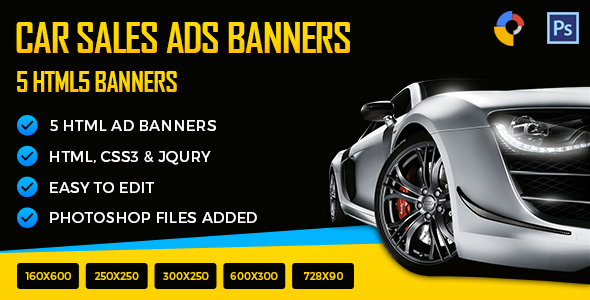 Public Auto Sales >> Car Sales Html5 Ad Banners By Exe Design Codecanyon