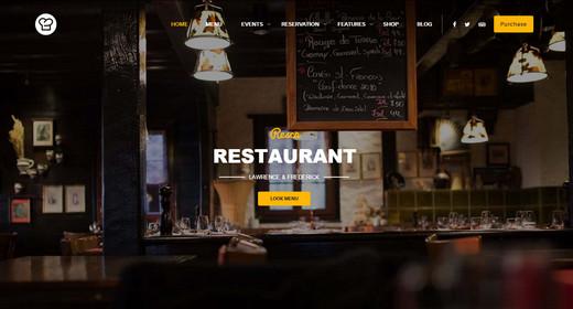 Awesome WordPress Theme Restaurant 2016