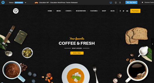 Amazing WordPress Theme Restaurant 2016