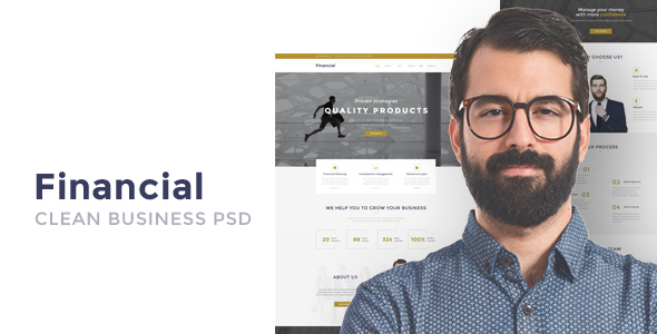 Financial – Clean Business HTML Template
