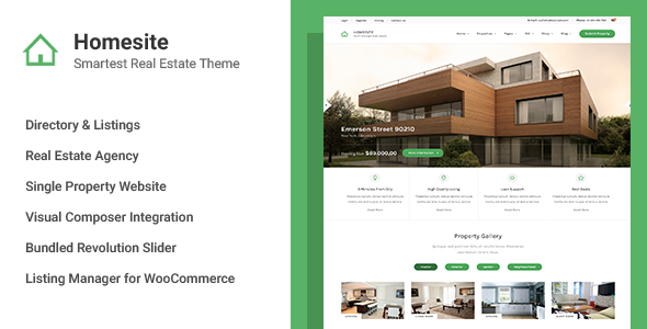 Homesite - Multi Concept Real Estate WordPress Theme