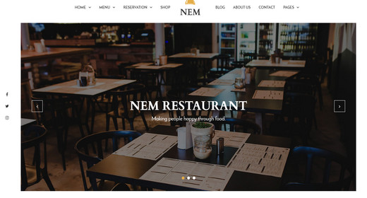 Amazing Restaurant WordPress Theme