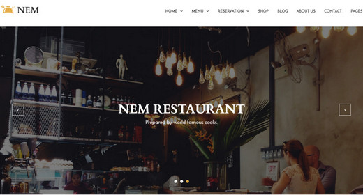 Awesome Restaurant WordPress Theme 2016