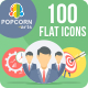 100 Business and Office Round Icons - GraphicRiver Item for Sale