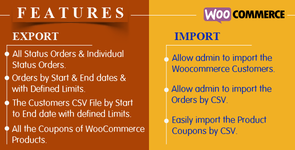 Import/Export Customers,Orders and Coupons  in WooCommerce - CodeCanyon Item for Sale