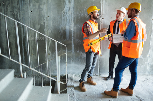 Inspectors of new building - Stock Photo - Images