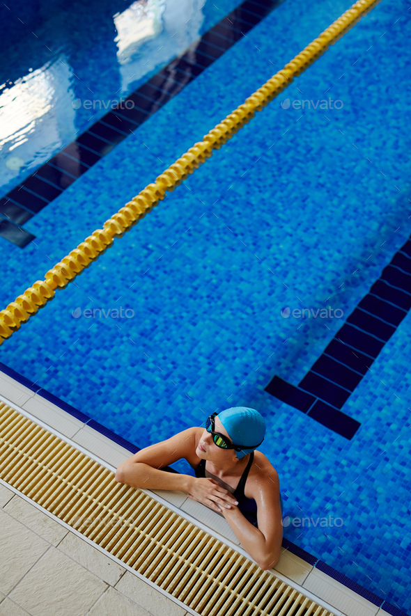 Woman in swimming pool - Stock Photo - Images