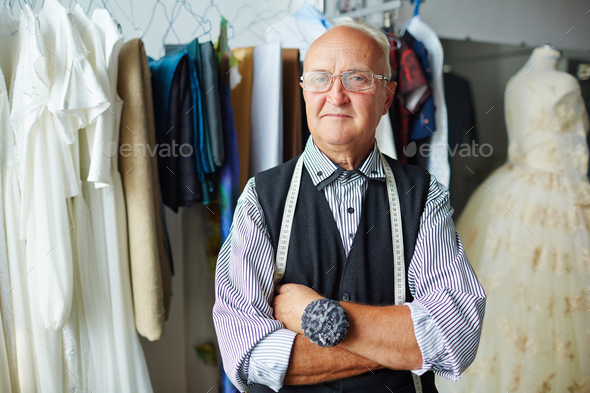 Mature tailor - Stock Photo - Images