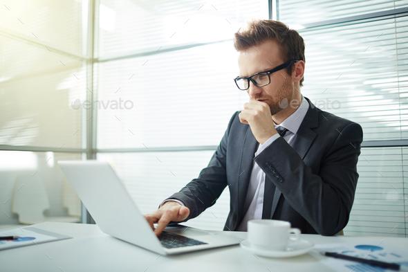 Using laptop - Stock Photo - Images