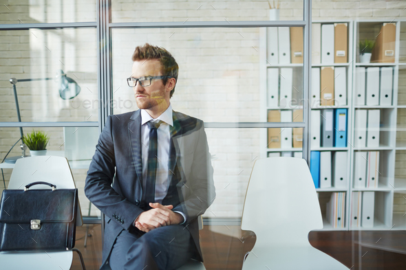 Businessman waiting - Stock Photo - Images