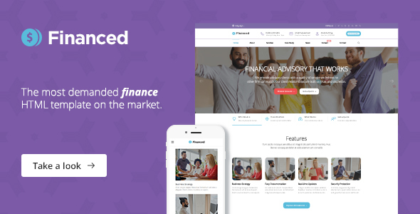 Financed – Finance, Consulting, Business HTML Template