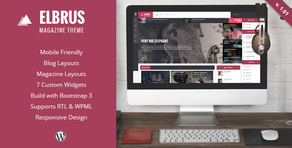 Elbrus - Responsive WordPress Magazine Theme - Blog / Magazine WordPress