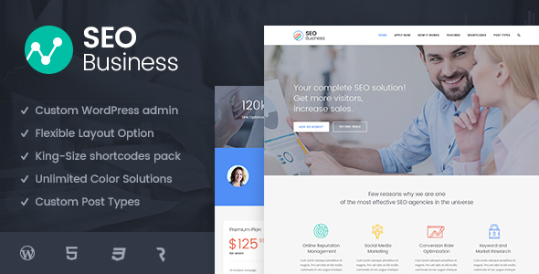 SEO Business - SEO, Social Media and Marketing WordPress Theme