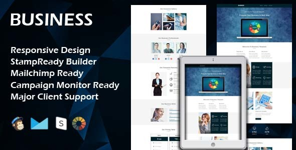 BUSINESS - Multipurpose Responsive Email Template + Stamp Ready Builder