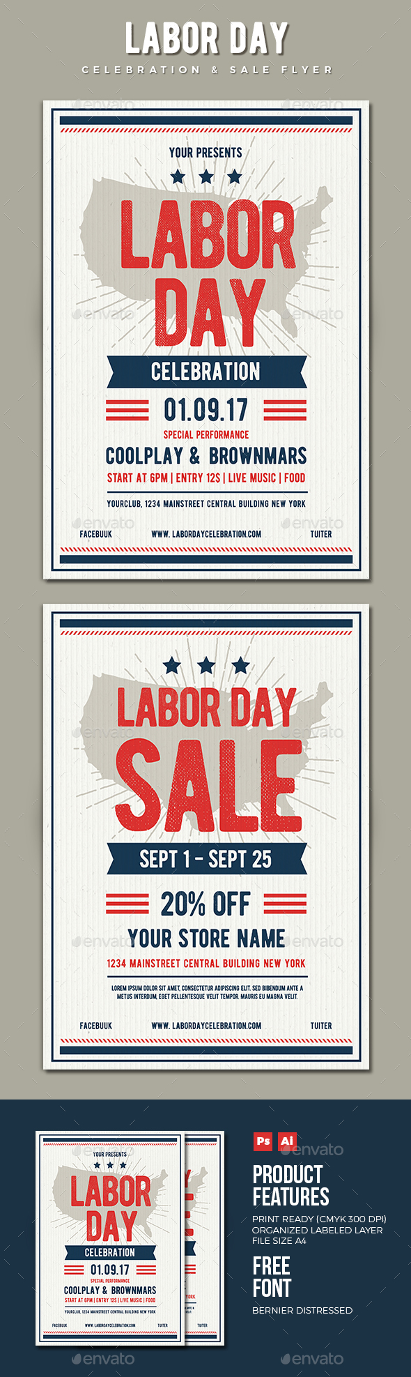Labor Day Event Flyer Templates from GraphicRiver (Page 3)