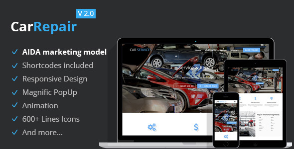 Car Repair – Conversion Landing Page