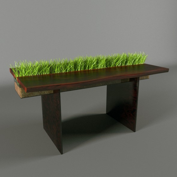 Table with grass - 3DOcean Item for Sale