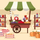 Local Autumn Products at Farmers Market - GraphicRiver Item for Sale