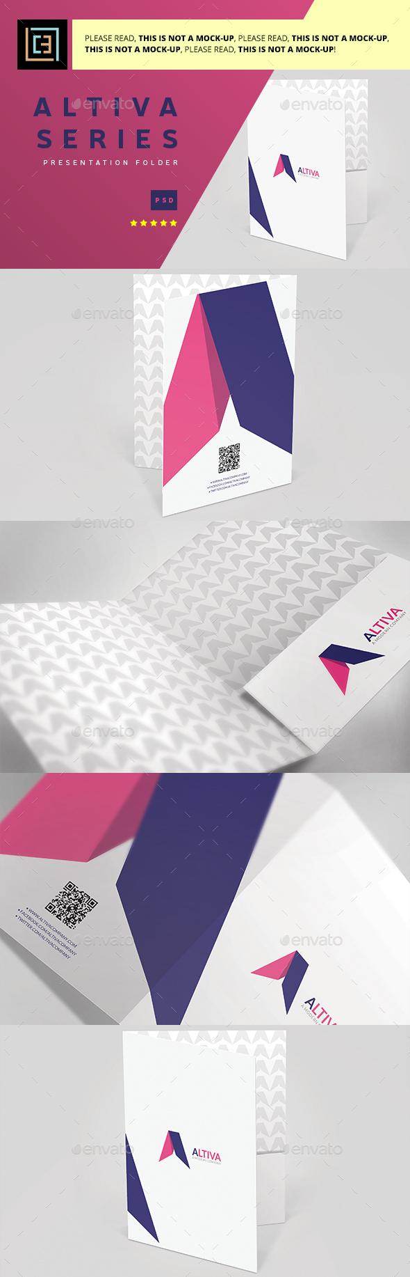 Altiva Series - Presentation Folder - Stationery Print Templates