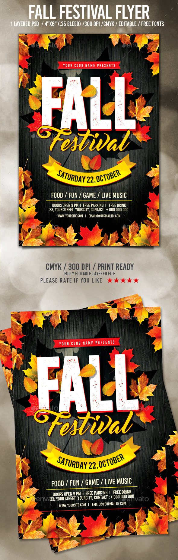 fall festival flyer by pixelyes graphicriver. Black Bedroom Furniture Sets. Home Design Ideas