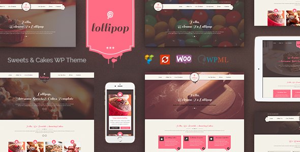 Lollipop - Awesome Sweets & Cakes Responsive WordPress Theme - Food Retail