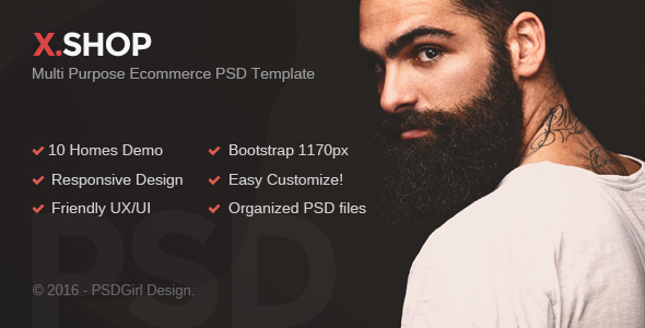 X.Shop - Kute PSD Template