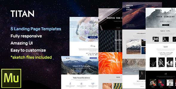Titan – Responsive Landing Page Templates