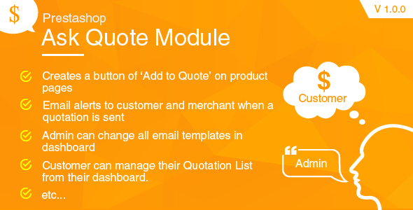 Prestashop Request a Quote Module - CodeCanyon Item for Sale