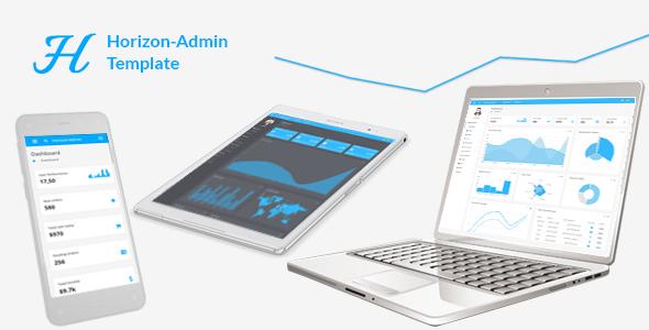 Horizon – Responsive + RTL + PHP + AngularJS Web app kit