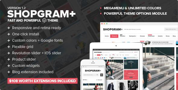 Shopgram - Responsive Magento Theme - Magento eCommerce