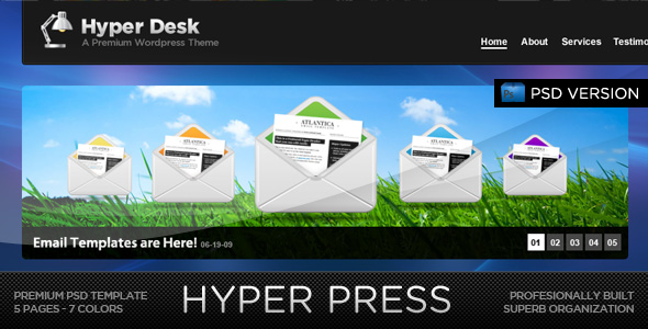 Free Download HYPER PRESS - Premium PSD Template Nulled Latest Version