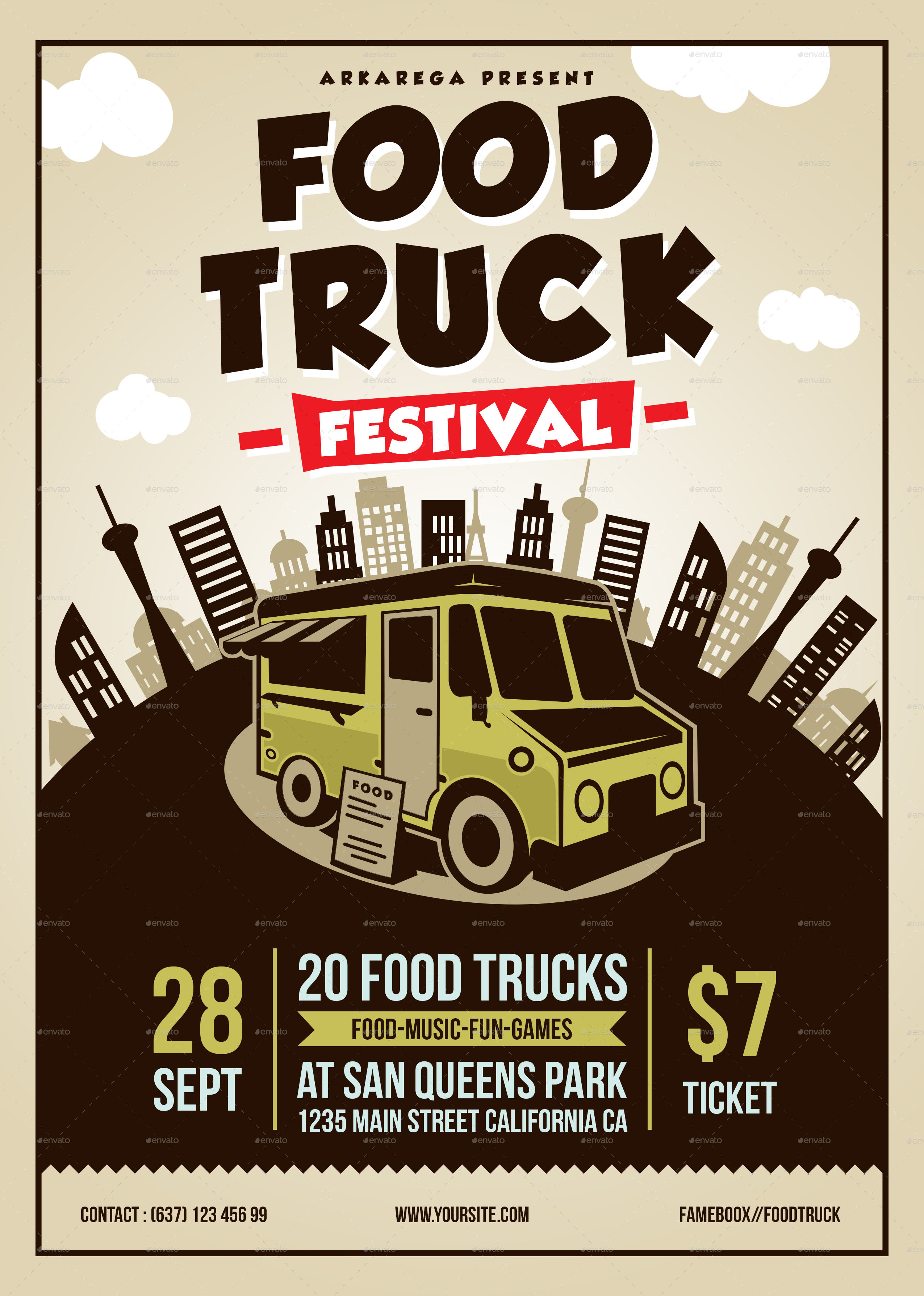 Food Truck Festival By Adimasen Graphicriver