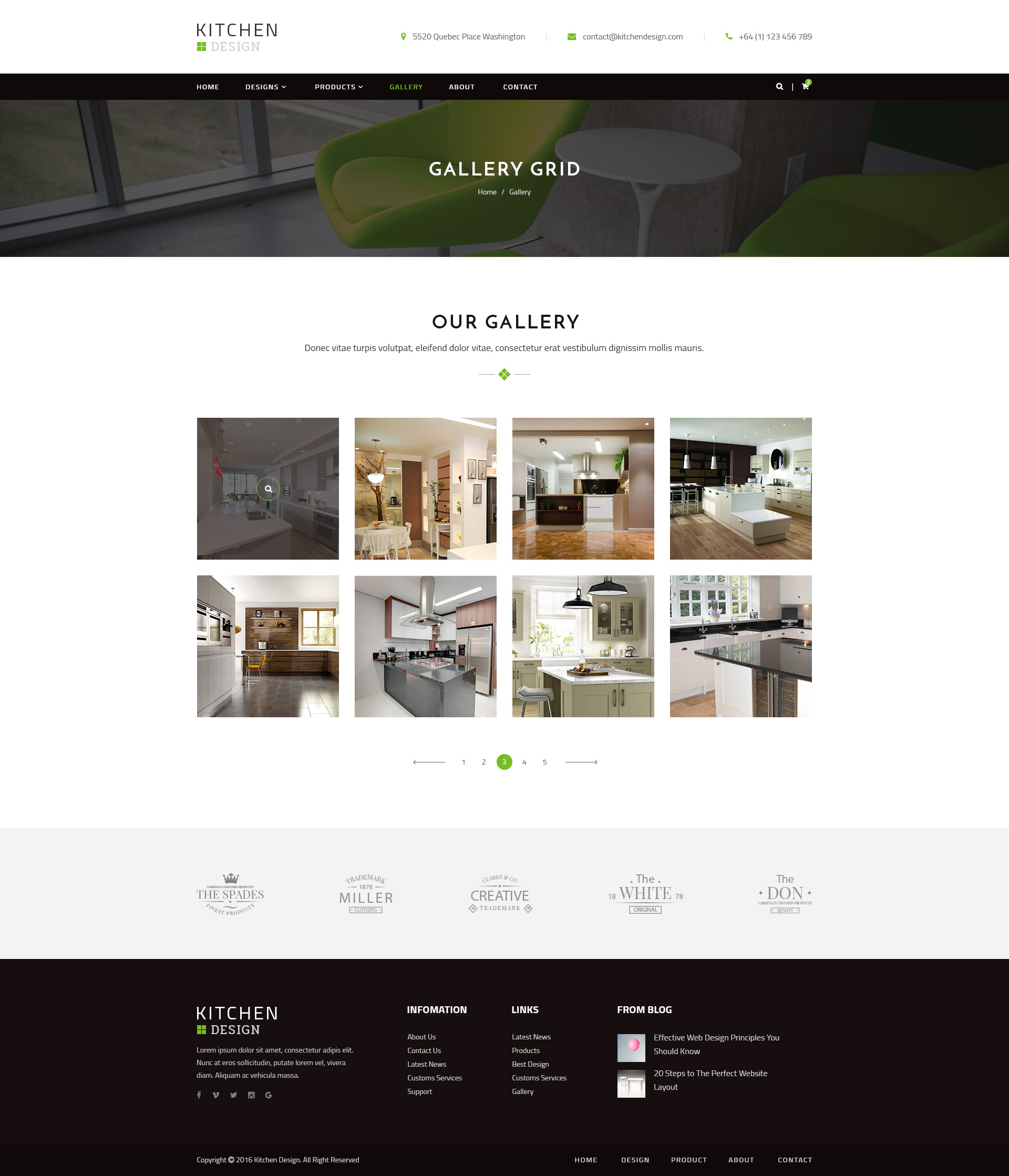 kitchen design grid template.  Kitchen Preview 16 GALLERY GRID jpg PSD Template by qtcmedia ThemeForest
