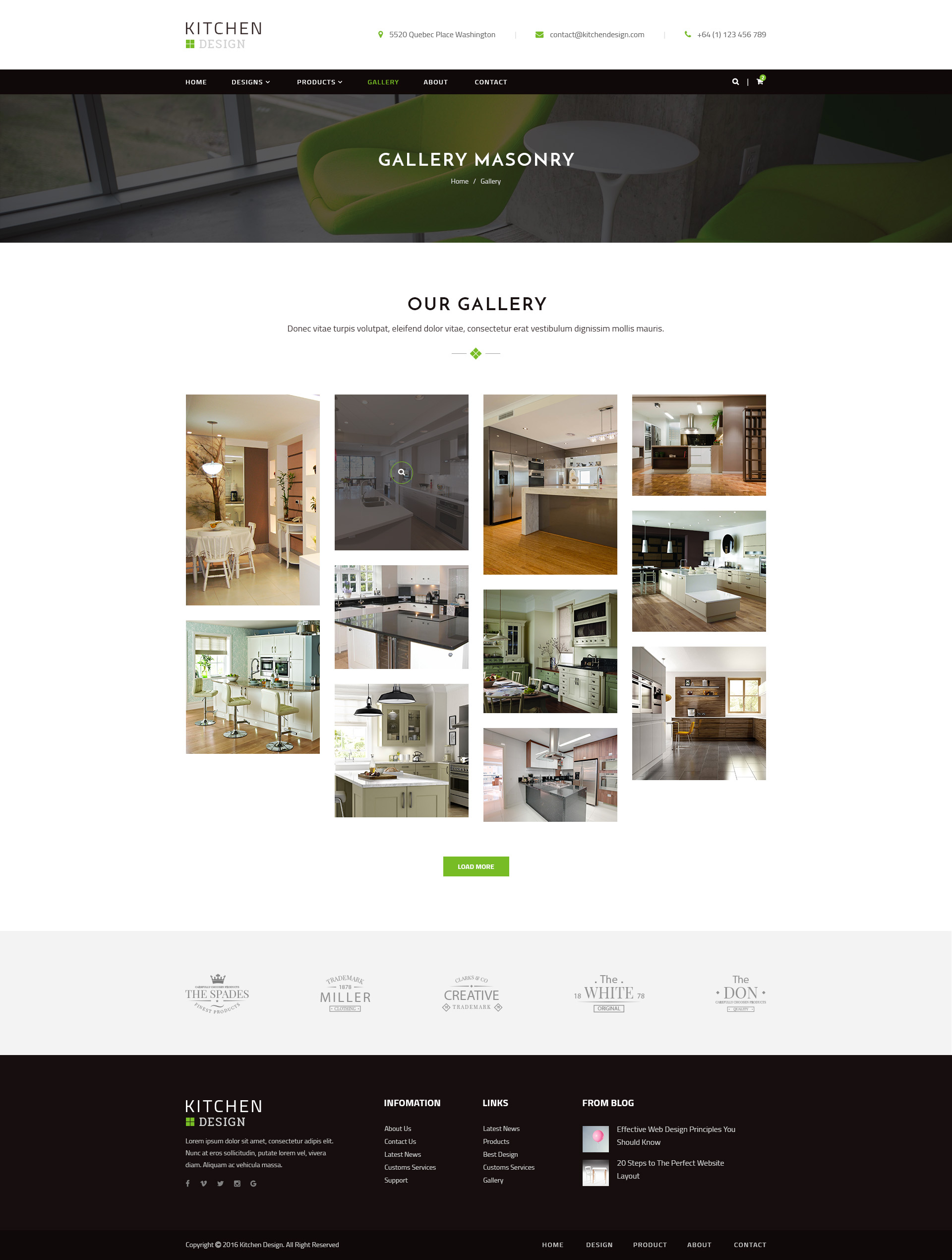 Kitchen PSD Template by qtcmedia ThemeForest