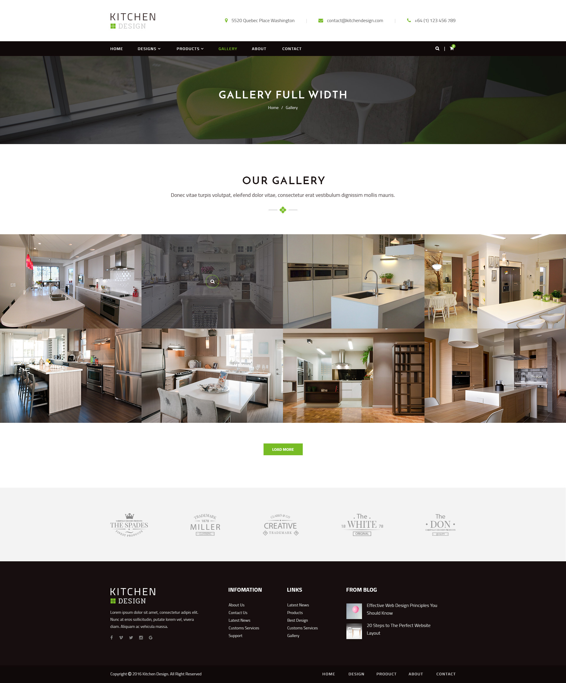 Kitchen   PSD Template