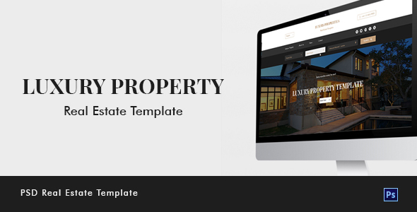 Luxury Property Real Estate PSD Template
