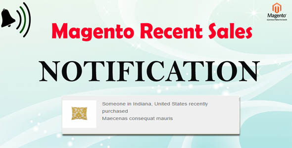 Magento Sales Notification - Boost Your Sales - CodeCanyon Item for Sale