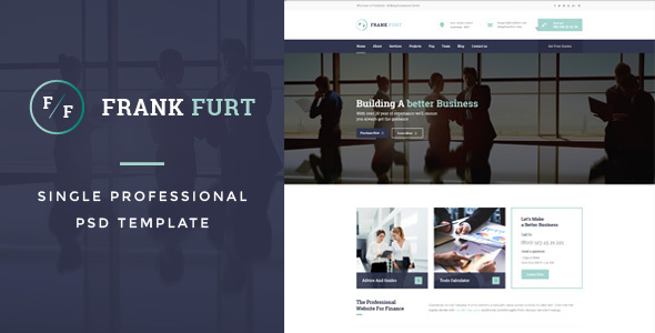 FrankFurt : Single Professional PSD Template