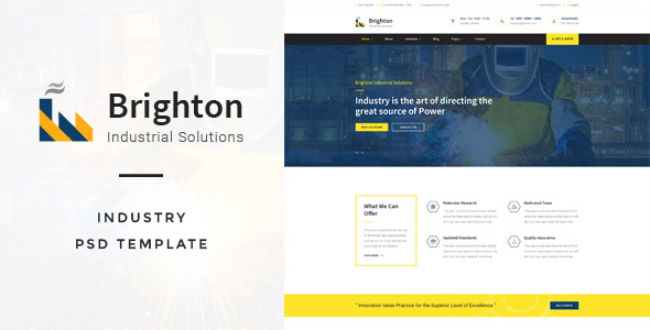 Brighton : Industry PSD Template