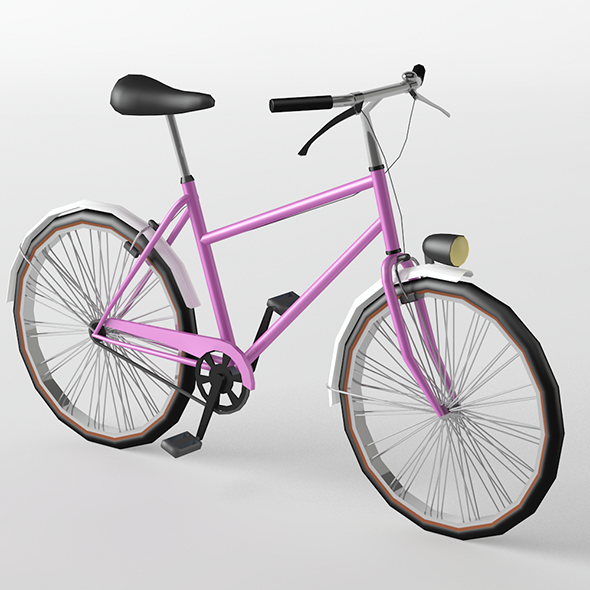 City Bike Lowpoly - 3DOcean Item for Sale