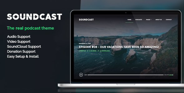 Soundcast – Podcast WordPress Theme