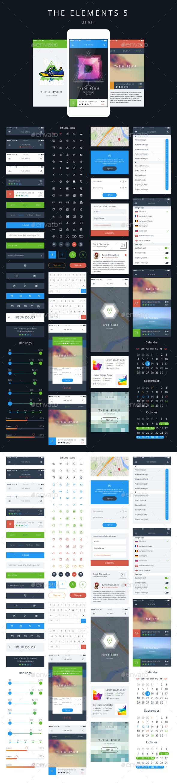 Vector Phone GUI Template UI Kit - Media Technology