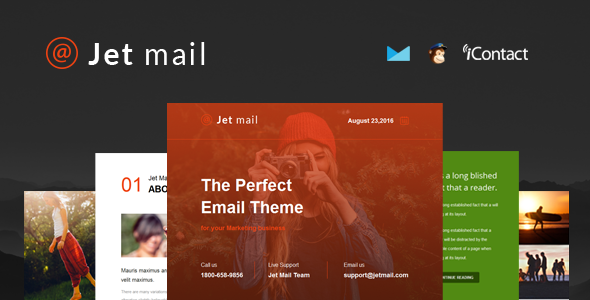 Jet mail – Responsive E-mail Template + Online Access