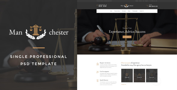 Manchester : Single Professional PSD Template - Creative PSD Templates